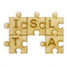 5 Pieces Scrabble Puzzle - Personalised Jigsaw Craft 3D Box Frame Embellishments